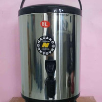 Termos Jumbo Nagako 8 Liter / Drink Jar. Termos Air Kran Milk Tea