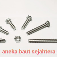 Baut Mur Hex M10x35 (P 1.5) Stainless Steel