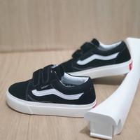 Sepatu Anak Vans Old Skool OG Black White Grade Original Free Box