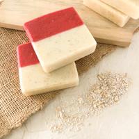 "Sabun Handmade Natural Oatmeal Kulit Sensitif Merdeka"""