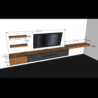 Meja tv / Laci gantung / Meja tv minimalis