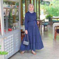 [REAL PICTURE] KATIA BELT DRESS HAZELNUT IMPORT TANAH ABANG PGMTA