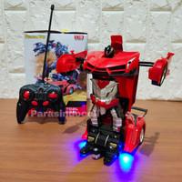 Mainan RC Lamborgini Transform Mobil Jadi Robot