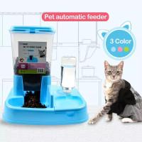 pet bowl dispenser otomatis tempat makanan minuman anjing kucing 2in1