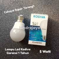 Lampu Led 5W / Led 5 Watt Kodiva Garansi 1 Tahun