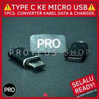 ✅ CONVERTER ADAPTER USB TIPE C KE MICRO KABEL DATA CHARGER COLOKAN