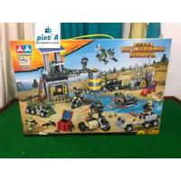 Mainan Edukatif brick block 6 in 1 Pubg dengan 6 karakter 632 pc JUMBO