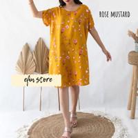 DASTER BALI DRESS BALI (PILIH MOTIF) - Rose Mustard