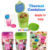 Fruit Ice Box Thermal Container With Spoon / Wadah Simpan Buah