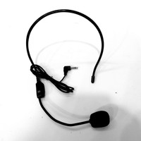 Clip On Bando Mic Headset Microphone Bando Jack Audio 3.5mm