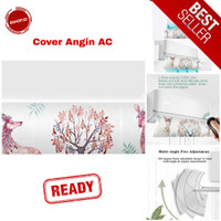 Cover Angin AC Conditioner Adjustable Air Conditioner Windshield House - Putih