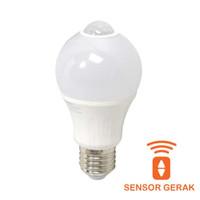 Lampu Bulb Bohlam Led Krisbow Dengan Sensor Gerak 6w - Cool Daylight