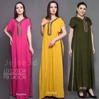 Daster Arab Gaun Panjang Pinky Busui Rayon Super Homey dress Polos