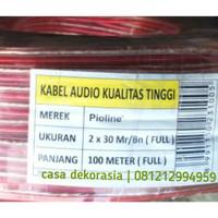 (1 Roll 100 meter) Kabel Speaker Audio Pioline 2x30 Mr/Bn Full Murah