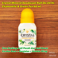 CRYSTAL Body Deodorant Roll-On Crystal Essence CHAMOMILE & GREEN TEA