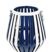 Nautica 22 Cm Tempat Lilin Lentera - Biru