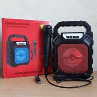 Speaker Bluetooth Wireless + Mic Karaoke YD 668 BASS Plus Mic