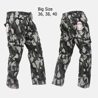 Celana Cargo/Pdl Panjang Pria Army Ukuran Besar eklusif Terbatas