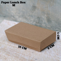 GRADE A - PAPER LUNCH BOX - KOTAK MAKANAN SIZE M MURAH FOOD GRADE