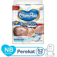 Popok Bayi Mamypoko Royal Soft Newborn NB 52 Tape Perekat