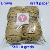 75gr-shredded paper/kertas cacah/serut-parcel/packing-coklat natural