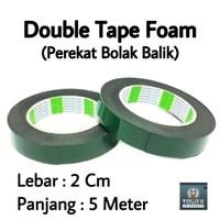 Double Tape / Doubletape / Dobeltip Foam Hijau Kualitas 3M Grosir