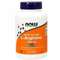 Now Foods L-Arginine Double Strength 1000 mg 1000mg , 120 Tabs