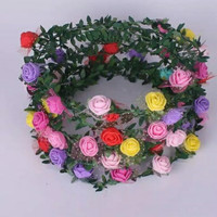 bandana bunga warna warni untuk anak dan dewasa