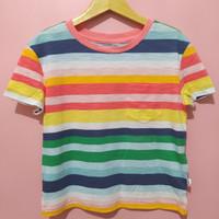 Baju kaos anak laki laki merk GAP rainbow size s, m