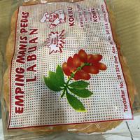 Emping mentah manis pedas/bks/250gram