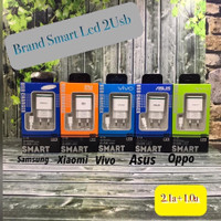 CHARGER OPPO SMART LED 2.1A + 1.0A MICRO USB 2USB PORT PACK IMPORT