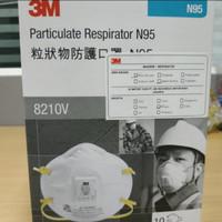 Masker N95 - Masker 3M N95 8210v Masker 3M1 Box Masker Anti Virus N95