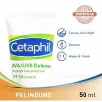 cetaphil UVa/UVb defense spf 50 50 ml (perlindungan dr sinar matahari)