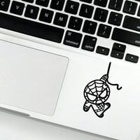 Cutting sticker spiderman laptop macbook pro air lucu unik keren