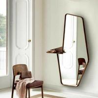 cermin gantung mewah cermin dinding besar cermin jati c uk 60 x 130