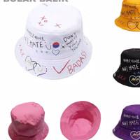 Topi Bucket Grafity Sablon 3 Warna Premium