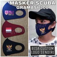 Masker Scuba Logo NKRI dan Garuda