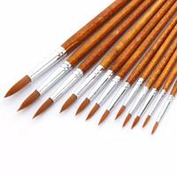 Kuas Lukis Cat Air Minyak Akrilik Set 12 pcs Oil Paint Brush