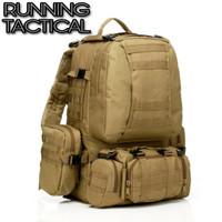Tas Ransel Gunung Hiking & Camping Backpack Tactical Big Size 4 in 1