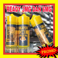 KUWE KACANG LIQUID SINGAPORE CAKE monk Freebase 3mg 6mg 100ml 100 kue