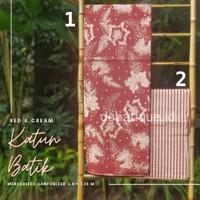 Kain Katun Batik Solo Premium Red Cream