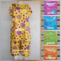 Setelan Celana / Baju Tidur Wanita Motif Love Lucu Terlaris