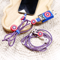 Paket Pelindung Kabel Spiral Android Iphone Charger Headset Protector