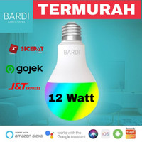 BARDI Smart Home Light Bulb LED 12W RGB+WWW Wifi for Google,Alexa,Siri