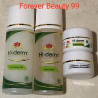 Hiderm paket oily skin normal glow gel isi 4 -krim glowing-flek ringan