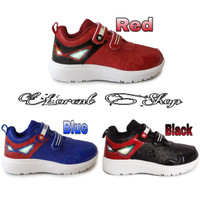 Sepatu anak Laki-laki LED VENOM / Sepatu Kets Lampu Sport Sekolah TK - 28, Biru