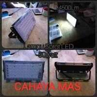 LAMPU SOROT LED 50W 50WATT 50 WATT 50 W SMD SLIM TIPIS FLOODLIGHT - Putih