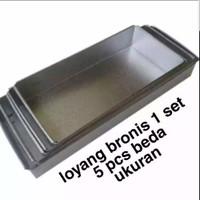 Loyang Brownies 1 set 5 ukuran 22 24 26 28 30 CM / Loyang kue Galvalum