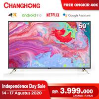 New Changhong 50 Inch 4K UHD Android 9.0 Smart TV Netflix LED TV U50K2