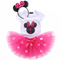 setelan tutu bayi Minnie mouse baju pesta anak 1 thn